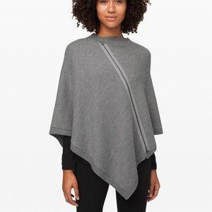 Lululemon On The Go Poncho Sweater | Grey
